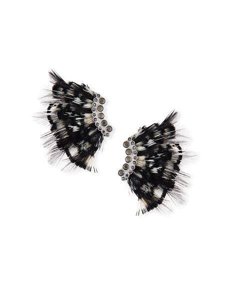 Mignonne Gavigan Lux Feather Mini Madeline Earrings