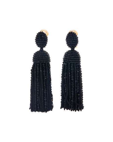 Oscar de la Renta Short Clip-On Bead &