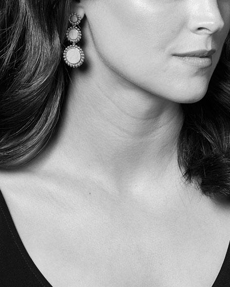 LAGOS Maya 3-Drop Earrings, Mother-of-Pearl/Onyx