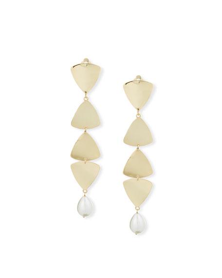 Rosantica Gelo Pearl & Crystal Clip-On Dangle Earrings
