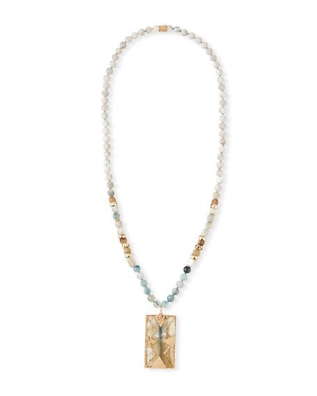 Akola Bone & Horn Long Pendant Necklace