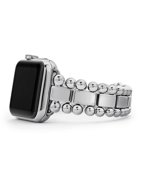 Image 1 of 5: Lagos Smart Caviar 38mm Watch Bracelet, Medium