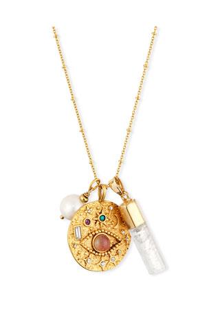 Sequin Evil Eye Talisman Necklace