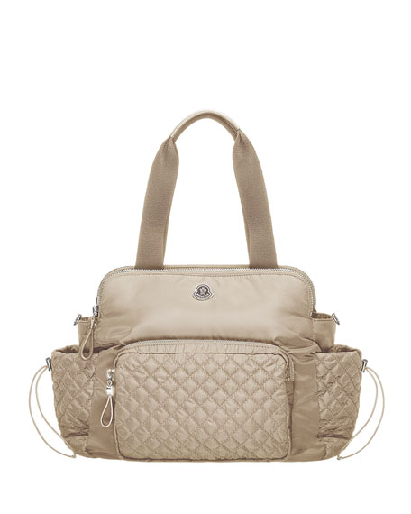 moncler beige changing bag