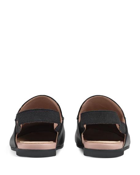 Princetown Junior Leather Horsebit Mule Slide, Toddler/Kids
