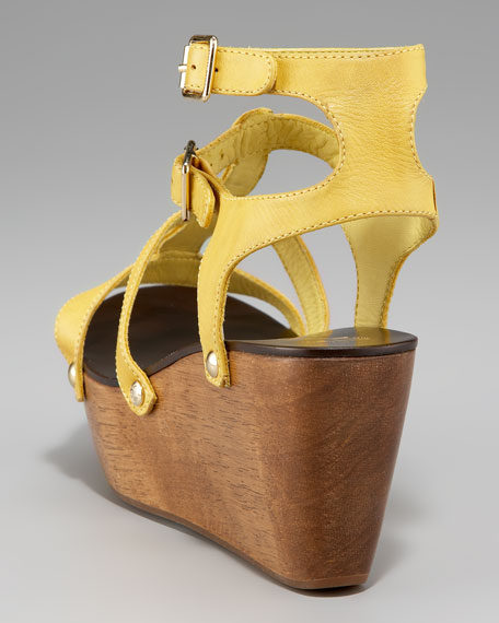 Dragon Ankle-Strap Wedge