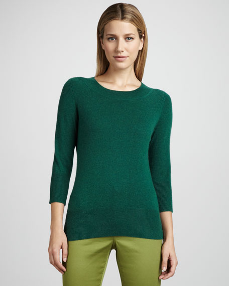Women's Basic 3/4 Sleeve Jewel Neck
