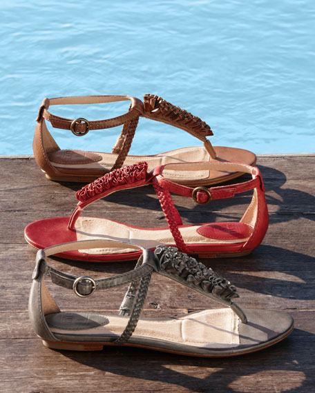 Laurel Flower T-Strap Sandal