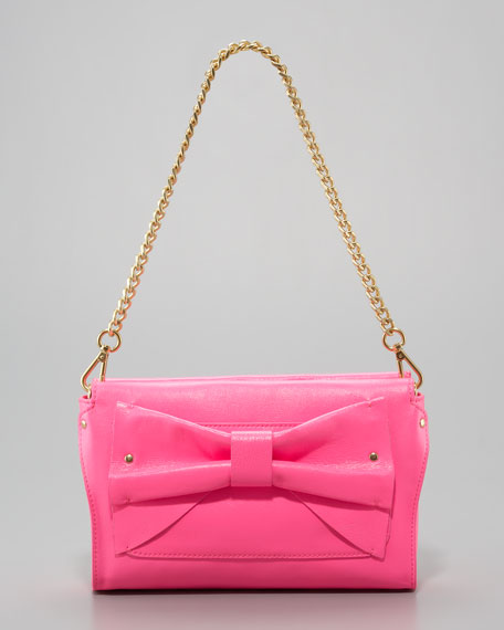 Neon Leather Clutch Bag