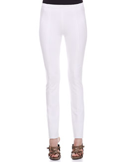Donna Karan Seamed Leggings, White