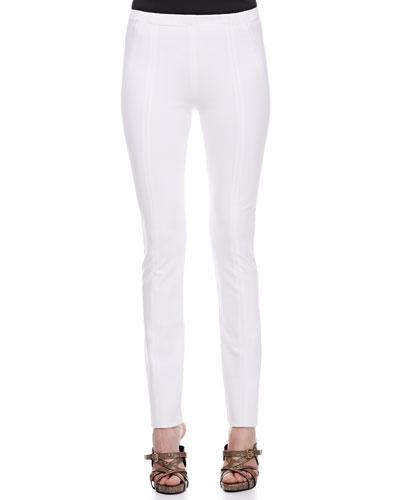 Donna Karan Seamed Leggings, White