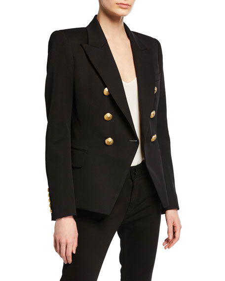 Classic Double-Breasted Wool Blazer