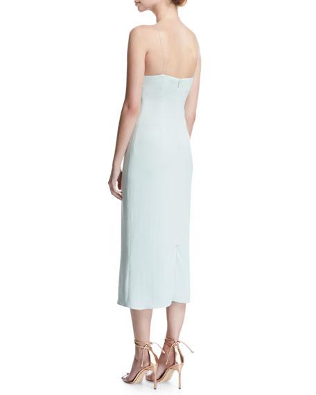 Karina Slip Dress with Asymmetric Straps, Ice