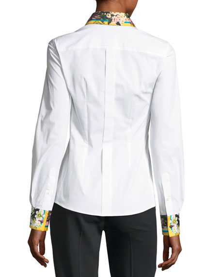 Poplin Blouse, White