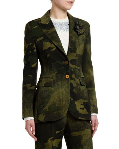 Ermanno Scervino Camo Blazer Jacket