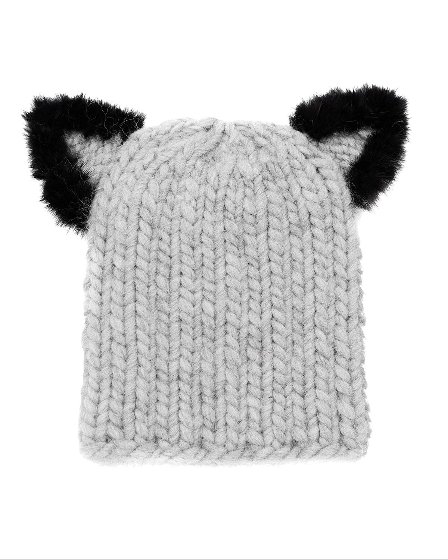 7b59e91e9ee Eugenia Kim Felix Fur-Trim Cat-Ear Skull Cap