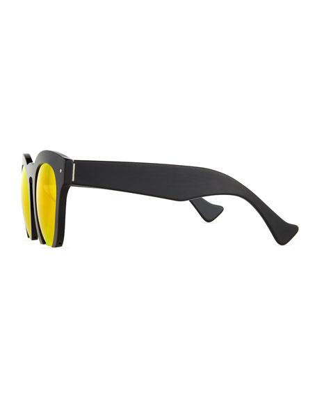 Fromone Round Cutoff Sunglasses