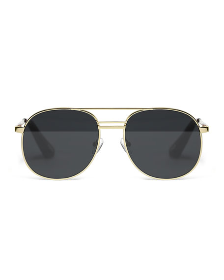 Watts Aviator Metal Sunglasses