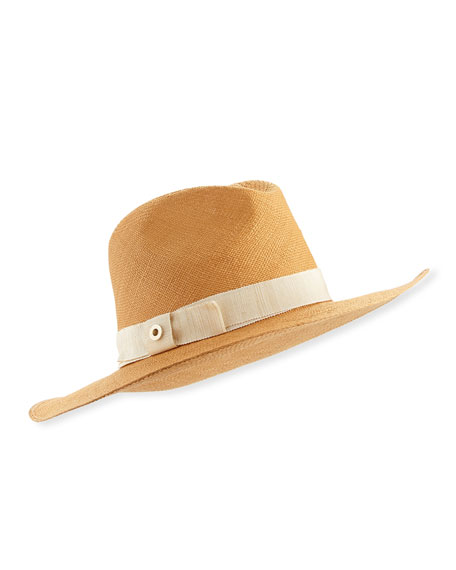 Loro Piana Kim Panama Brisa Hat, Honey Gold