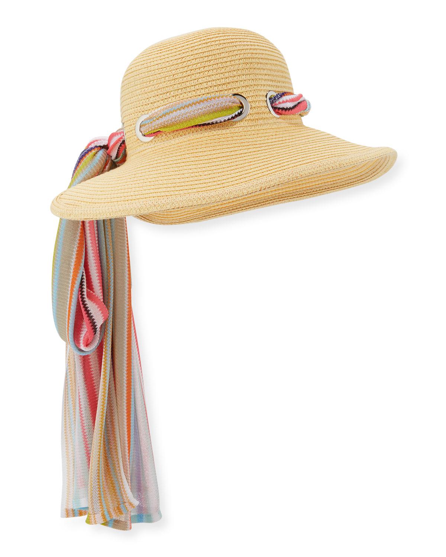 Missoni Mare Zigzag Scarf Sun Hat  d8f3e146d35