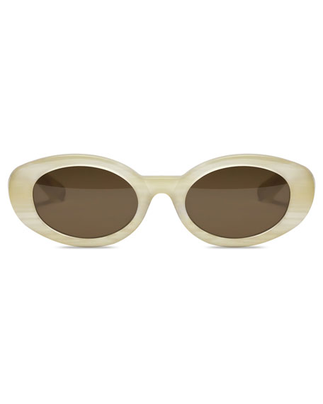 Image 2 of 3: McKinley Oval Acetate Sunglasses