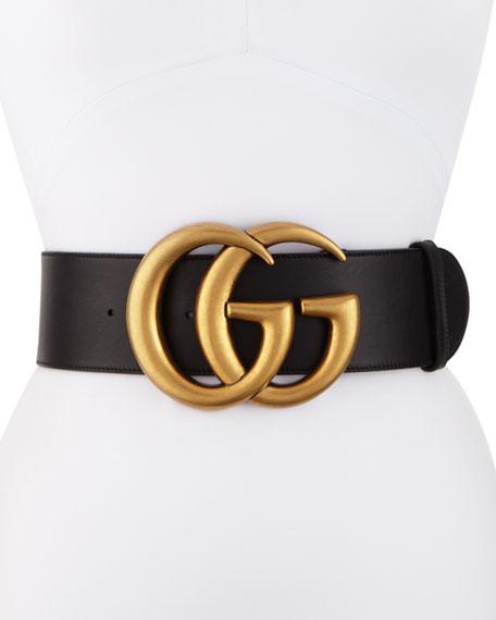 be6542622 Gucci Adjustable GG Belt, Black | Neiman Marcus