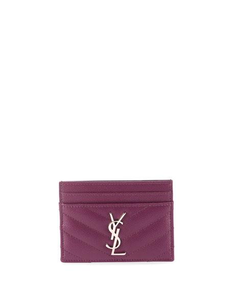 Saint Laurent Cases Monogram YSL Matelasse Leather Card Case