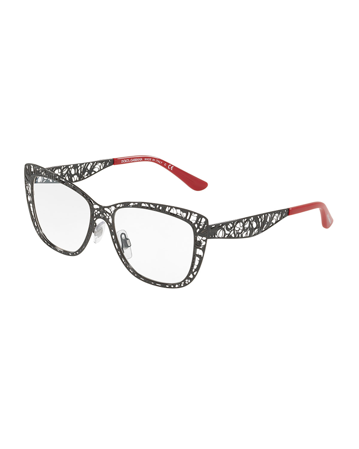 11333486f43 Dolce   Gabbana Flowers Lace Square Optical Frames