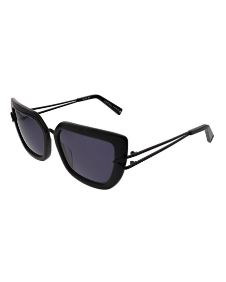 Kendall + Kylie Bianca Split-Temple Cat-Eye Sunglasses