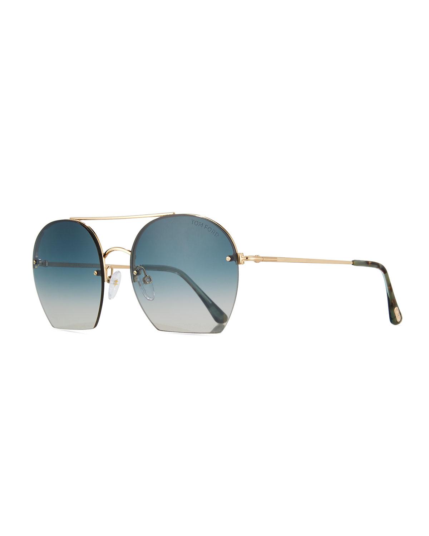 7225b72a5d8 TOM FORD Antonia Cutoff Round Sunglasses