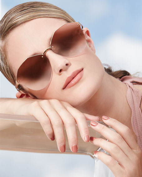 Image 2 of 5: Mirrored Round Sunglasses