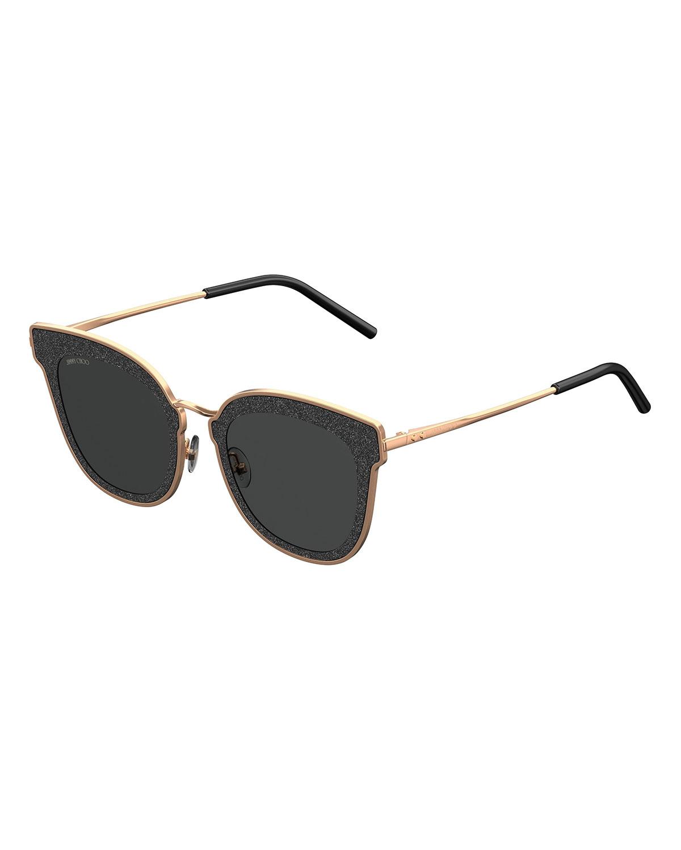 8de0176fe5b Jimmy Choo Niles Glittered Cat-Eye Sunglasses | Neiman Marcus