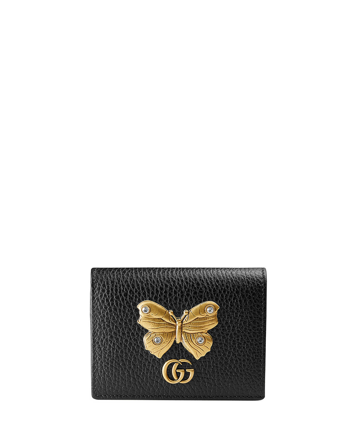 new concept 3feaf 0f3d7 Linea Farfalla Leather Card Case with Butterfly