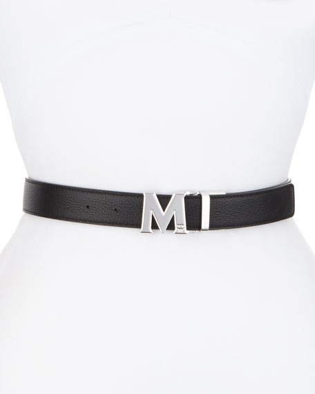 MCM Reversible Logo Belt, Black