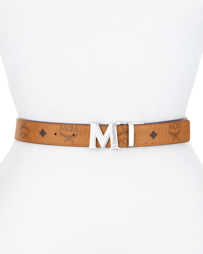 Reversible Logo Belt, Black
