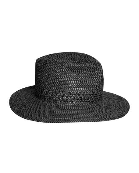 Eric Javits Bayou Squishee Woven Fedora Hat
