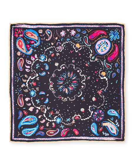 Image 2 of 3: The Fauve Silk Twill Square Scarf