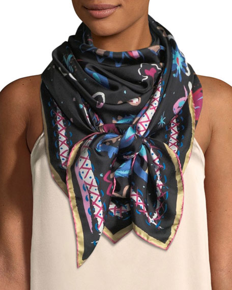 Image 1 of 3: The Fauve Silk Twill Square Scarf
