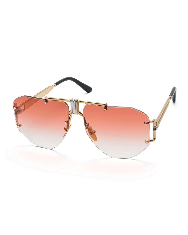 15b3925380e3 Celine Rimless Aviator Sunglasses   Neiman Marcus