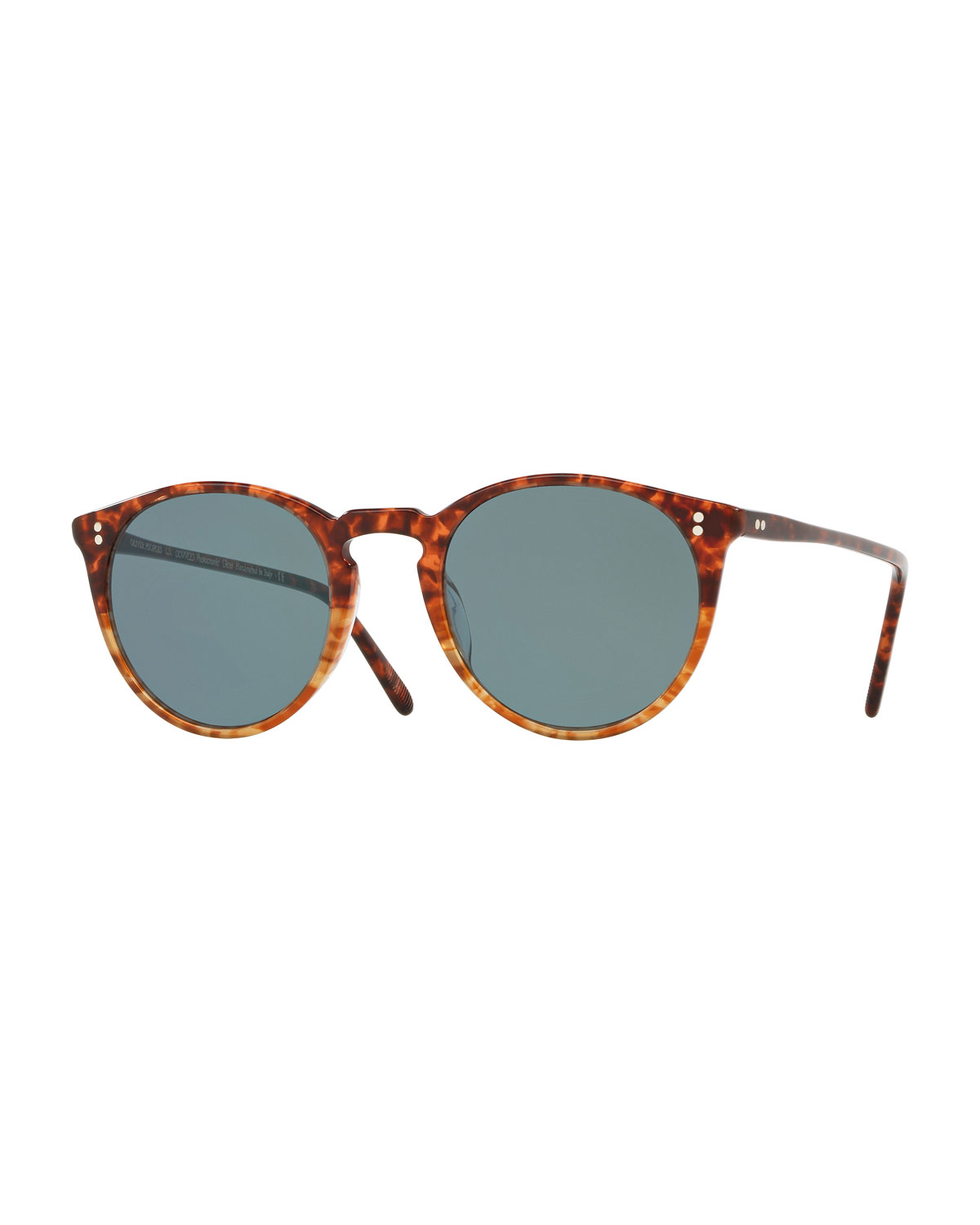 5dfb9cb9837 Oliver Peoples O Malley Peaked Round Photochromic Sunglasses ...