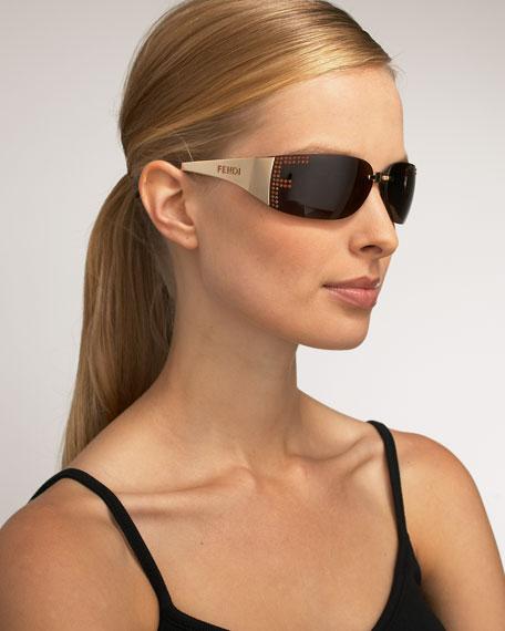 Marianela Rounded Plastic Mirrored Sunglasses