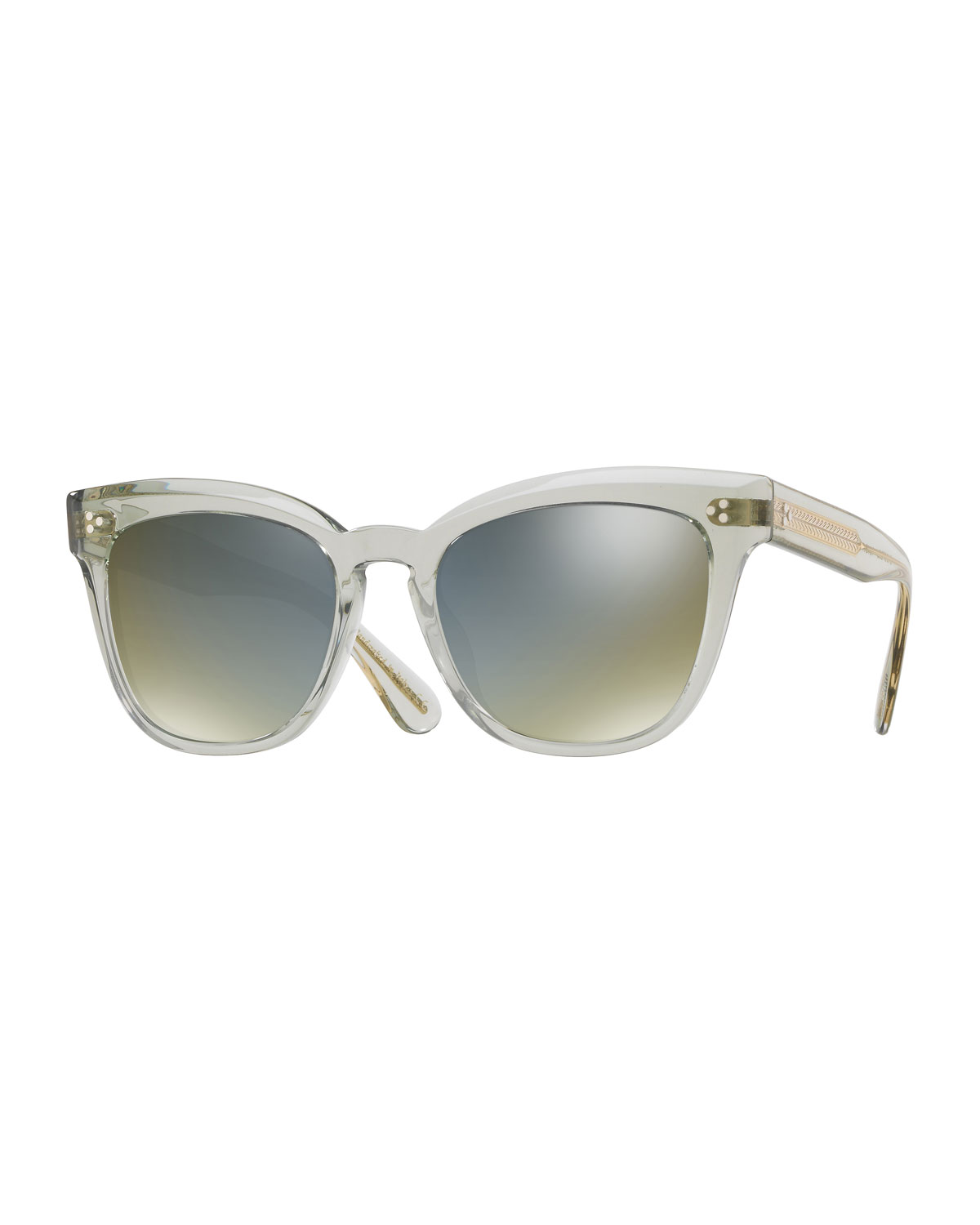 54987ad79ef57 Oliver Peoples Marianela Rounded Plastic Mirrored Sunglasses ...