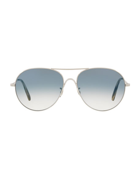 Image 2 of 2: Rockmore Photochromic Metal Aviator Sunglasses