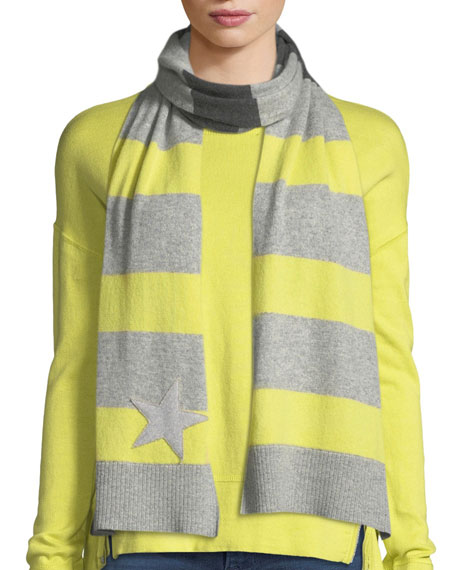 Lisa Todd Lucky Star Stripe Cashmere Scarf