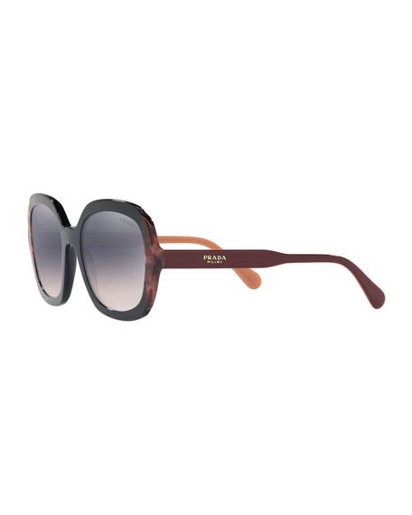 Prada Mirrored Acetate Sunglasses