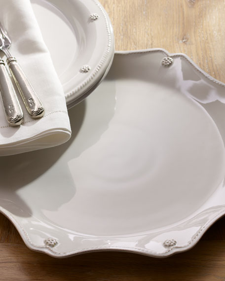 Image 1 of 3: Juliska Berry & Thread White Scallop Charger Plate
