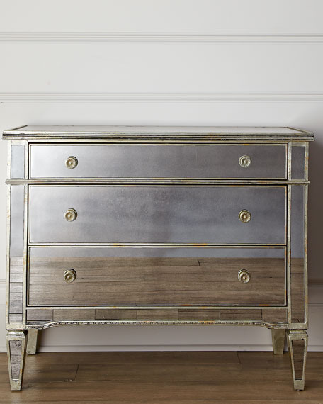 Image 3 of 4: Amelie Mirrored Hall Chest