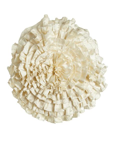"""Seaflower Pillow, 20""""Dia."""