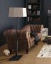 "Oak Leather Recamier Sofa 90.25"""