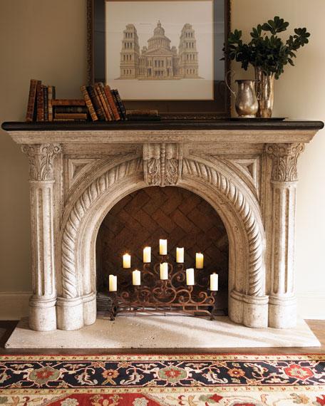 Rope-Edge Fireplace Mantel